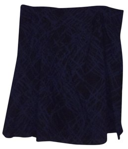 Massimo Skirt Black with Blue design
