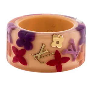 Louis Vuitton Pale pink multicolor resin Louis Vuitton Farandole LV logo band