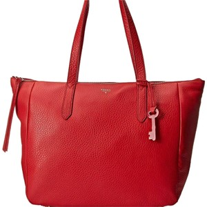 Fossil Tote in Claret Red