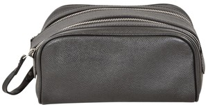 Louis Vuitton Cosmetic Pouch Travel Kit Gray Clutch