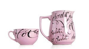 Rosanna Pitcher Hot Chocolate And 2 Matching Hot Chocolate Cups