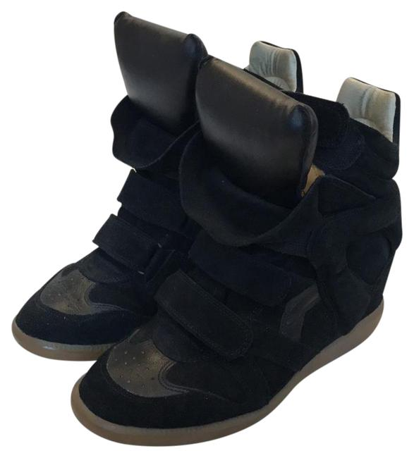 Item - Black Suede Bekett Wedge Sneakers Size US 9 Regular (M, B)