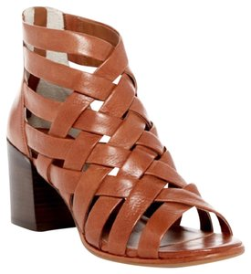 Kenneth Cole Chunky Heel Leather MEDIUM BROWN Sandals