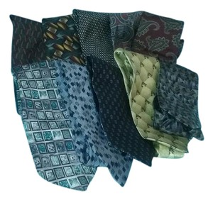 Pierre Cardin Mens Tie LOT (10) Silk Peebles Pierre Cardin Barrington