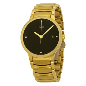 Rado RADO Centrix Jubile Black Diamond Dial Gold-Plated Stainless Steel Men