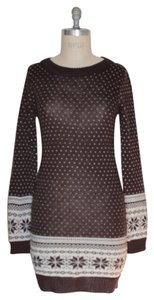 Willow & Clay short dress BROWN Sample Knit Sweater Winter Longsleeve on Tradesy