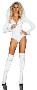 Frederick's of Hollywood Frederick's Snow Assassin Holiday Playsuit Bodysuit NWT Medium Santa
