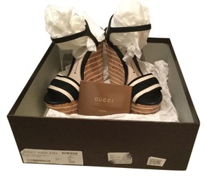 Gucci Nordstrom Black & White Box Black, White Wedges