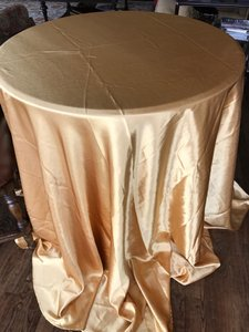 Satin Gold Tableclothes And Runners