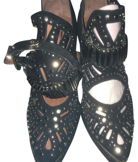 Item - Black and Silver Embellishments Boots/Booties Size US 10 Regular (M, B)