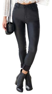 Showpo Faux Leather Night Out Date Night Black Leggings