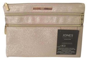 Jones New York Signature Charging Pouch Faux Leather Nude/Beige Clutch