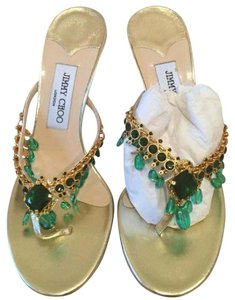 Jimmy Choo Gold/Green Formal