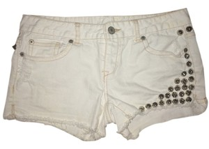 Other Stud Studded Cutoff Shorts White