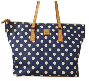 Dooney & Bourke Tote in Blue with white dots