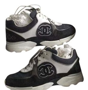 Chanel grey/white/silver Athletic