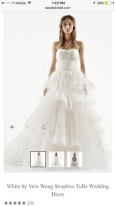 Vera Wang White By Vera Wang Strapless Tulle Wedding Dress Wedding Dress