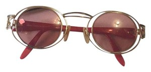 Paloma Picasso Paloma Picasso Vintage Round Sunglasses, Red 2622