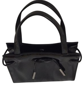 Liz Claiborne Patent Leather Satchel in Black