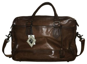 Frye Leather Vintage Messenger Briefcase Cross Body Bag