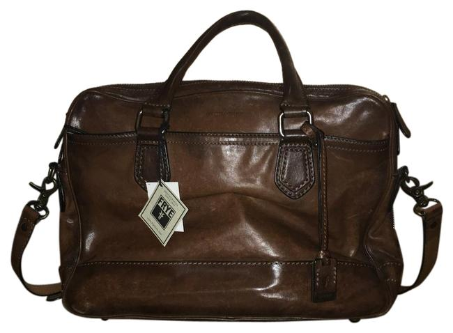 Item - James Work Zip Brown Leather Laptop Bag