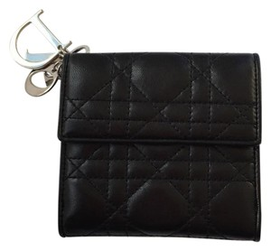 Dior Cannage Lady Dior Compact Bifold Wallet