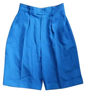 Saint Laurent Cuffed Shorts Blue