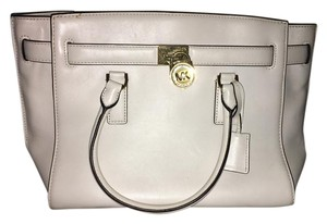 Michael Kors Hamilton Traveler Satchel Tote Handbag Optic White Travel Bag