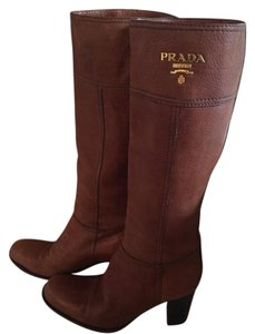 Prada Luggage brown Boots