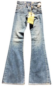 AG Adriano Goldschmied Bell Bottom 70's Inspired Flare Leg Jeans-Medium Wash
