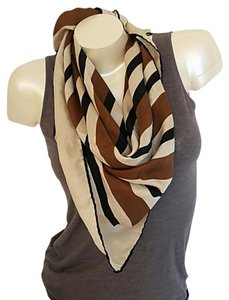 Echo Vintage Retro Echo silk scarf brown cream lovely TLC