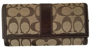 Coach * Coach Signature Monogram Tri-fold Full-sized Wallet