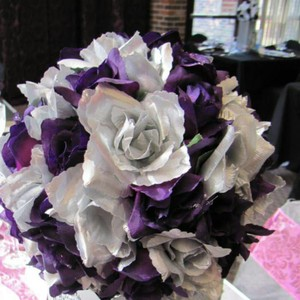 Silk Rose Floral Ball
