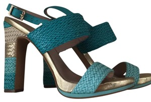 Vince Camuto blue and gold Sandals