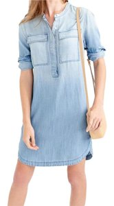 J.Crew short dress Blue Geniune Denim Fades on Tradesy