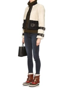 Burberry Winter Snow Waterproof Duck Shearling Brown Boots