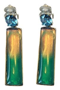 Oscar de la Renta OSCAR DE LA RENTA NWT TWO TONE CELESTE RESIN DROP EARRINGS ($290)