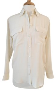 Equipment Classic Silk Day To Night Top Ivory