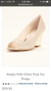 David's Bridal Gold Wendie Shoe Dress