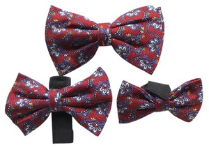 The Original Bow Tie Company Handmade, One-of-a-kind Clip-on Bow Tie w/2 matching dog bows