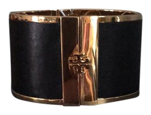 Tory Burch Wide leather inlay cuff
