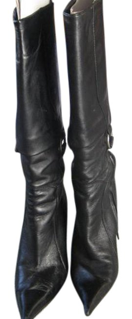"""Item - Black 6""""Side Zipper From The Bottom. Height Is 16"""" Boots/Booties Size EU 39 (Approx. US 9) Narrow (Aa, N)"""