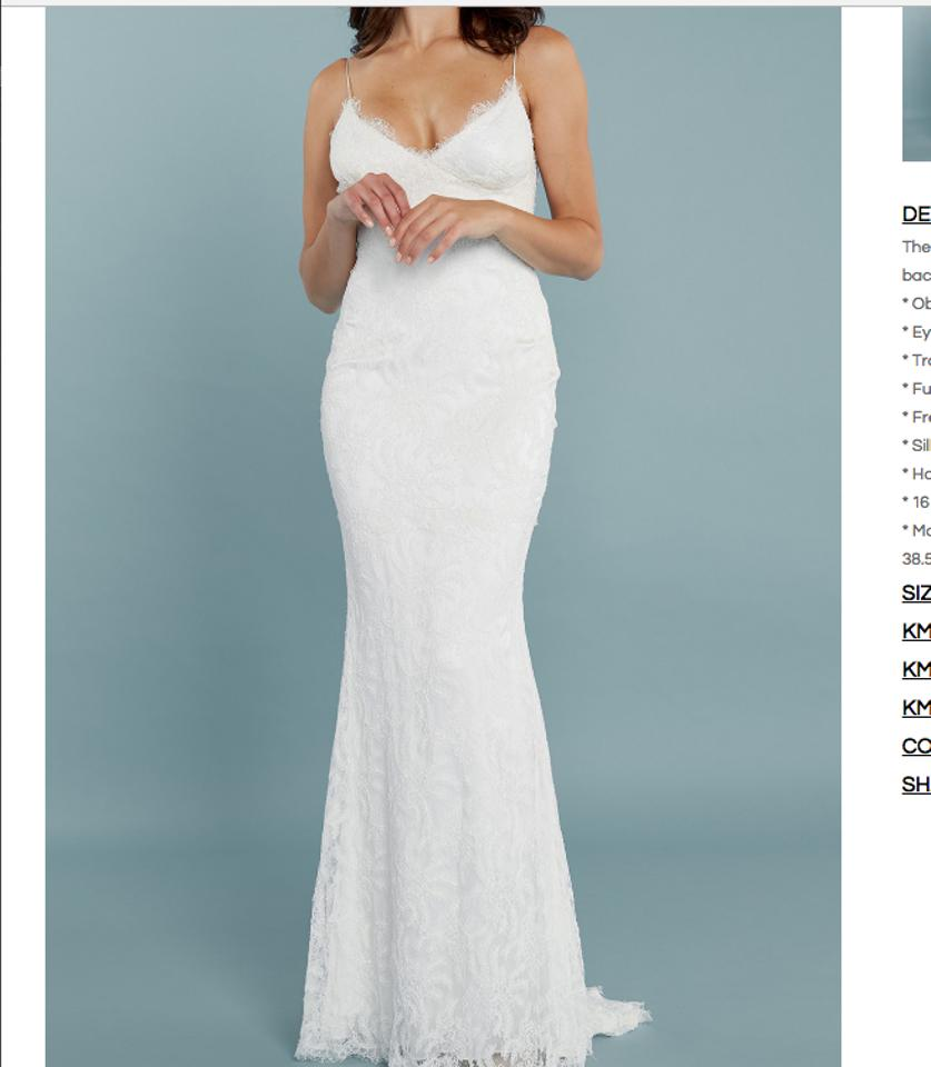 Katie May Ivory French Lace and Silk Princeville Gown Feminine ...