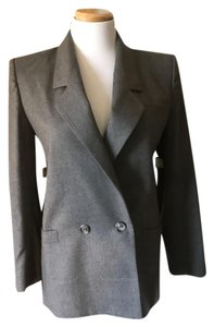 Dior Vintage Double-breasted Lined Grey Blazer