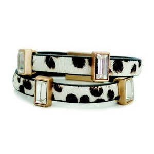 T&J Designs Animal Print Double Band Bracelet