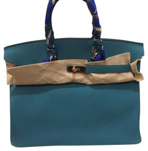 Hermès Satchel in Blue Turquoise
