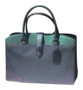 Coach Satchel in purple,green, gunmetal