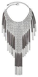 Chico's Chicos Fringe Bib Necklace NEW Huge RARE $