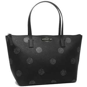 Kate Spade Zip Top Shimmery Glitter Tote in Black