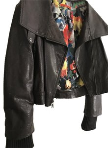 Alice + Olivia Dark Brown Leather Jacket